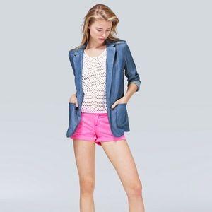 TALULA Aritzia Blue Kent Blazer Open front Size 2
